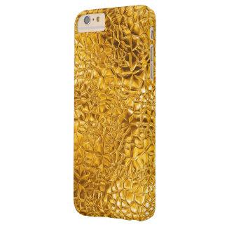 Textura de oro del vitral del fractal funda de iPhone 6 plus barely there