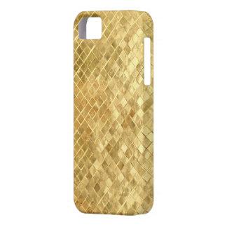 Textura de oro iPhone 5 protector