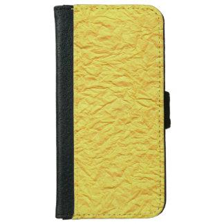 Textura de papel amarilla arrugada carcasa de iPhone 6