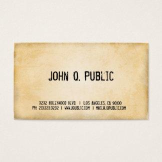 Textura de papel antigua tarjetas de visita