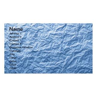 Textura de papel arrugada azul para el fondo tarjetas de visita