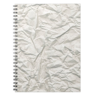 Textura de papel arrugada crema libro de apuntes
