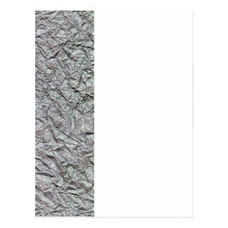 Textura de papel arrugada metálica postal