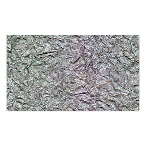 Textura de papel arrugada metálica tarjetas de visita