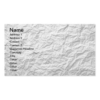 Textura de papel arrugada para el fondo 2 tarjetas de visita