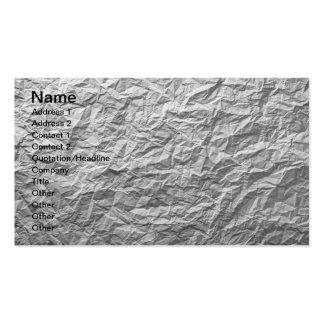 Textura de papel arrugada para el fondo plantillas de tarjetas personales