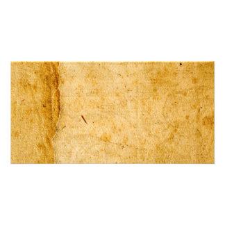 Textura de papel francesa antigua del fondo del tarjetas fotográficas personalizadas