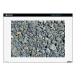 Textura de pequeñas piedras grises calcomanías para 38,1cm portátiles