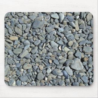 Textura de pequeñas piedras grises tapete de raton