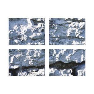 Textura de piedra áspera, ladrillo blanco impresion de lienzo