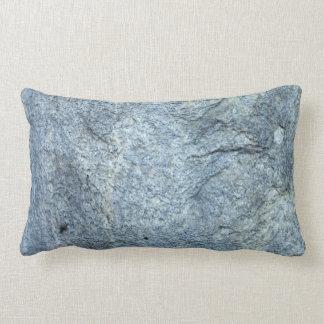Textura de piedra Azul-gris abstracta Cojin