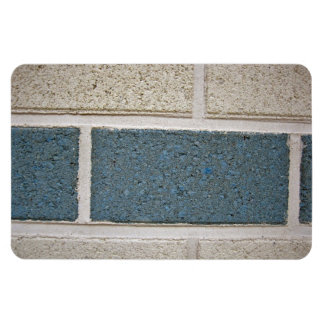 Textura de piedra blanca azul de la pared de ladri imán de vinilo