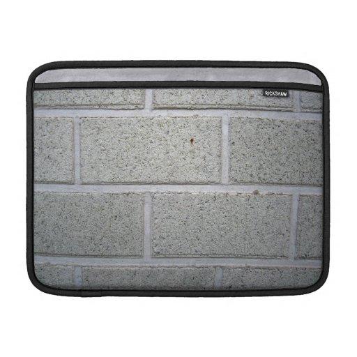 Textura de piedra blanca de la pared de ladrillo funda macbook air
