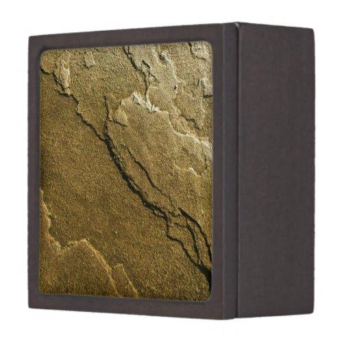 Textura de piedra cajas de regalo de calidad