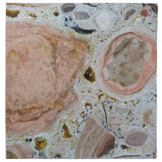 Textura de piedra: Carbonato Servilletas Imprimidas