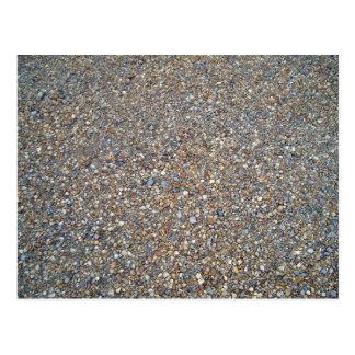 Textura de piedra de la grava postal