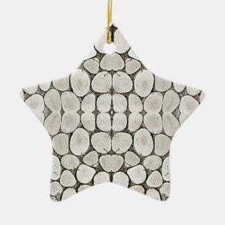 Textura de piedra de la pared del modelo adorno de cerámica en forma de estrella