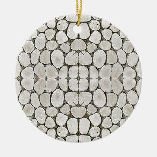 Textura de piedra de la pared del modelo adorno redondo de cerámica