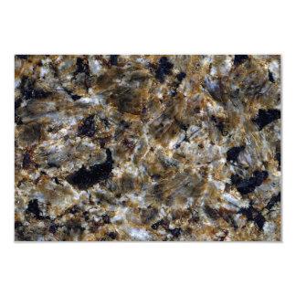 """Textura de piedra: Granito verde Invitación 3.5"""" X 5"""""""