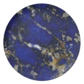 Textura de piedra: Lapislázuli Plato Para Fiesta