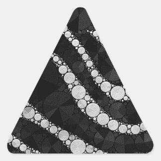 Textura de plata negra del extracto de la cebra pegatina triangular