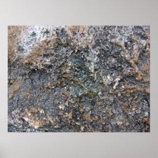 Textura de tierra de la roca detalladamente impresiones