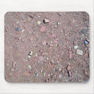 Textura de tierra del fondo de la grava tapetes de ratón