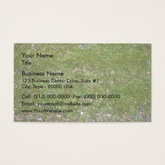 Textura de tierra herbosa tarjetas de visita