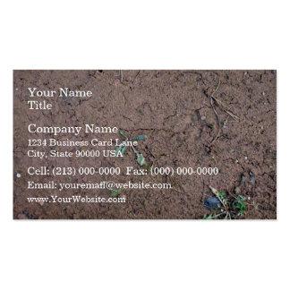 Textura de tierra quebrada del campo tarjeta de visita