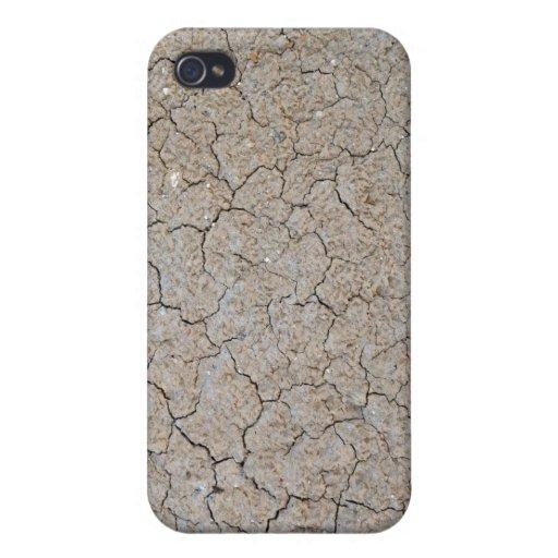 Textura de tierra seca agrietada iPhone 4/4S funda