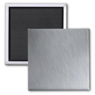 Textura del acero inoxidable con puntos culminante imán de frigorífico
