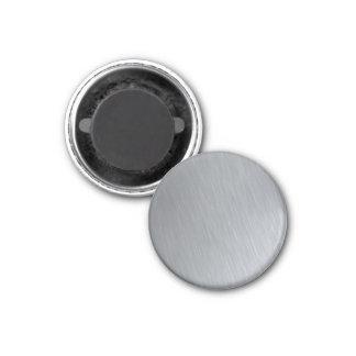Textura del acero inoxidable con puntos culminante imán redondo 3 cm