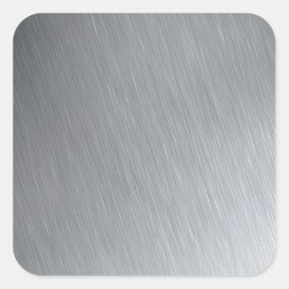 Textura del acero inoxidable con puntos culminante pegatina cuadradas