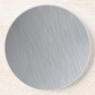 Textura del acero inoxidable con puntos culminante posavasos de arenisca
