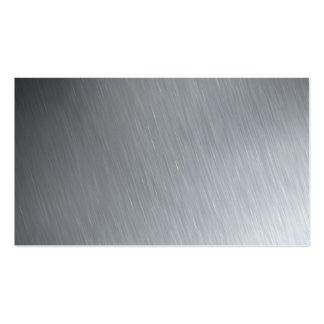 Textura del acero inoxidable con puntos culminante tarjetas de visita