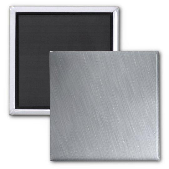Textura del acero inoxidable con puntos imán cuadrado