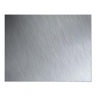 """Textura del acero inoxidable con puntos invitación 4.25"""" x 5.5"""""""