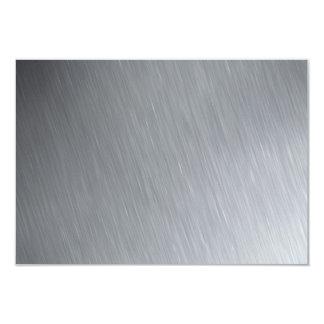 """Textura del acero inoxidable con puntos invitación 3.5"""" x 5"""""""