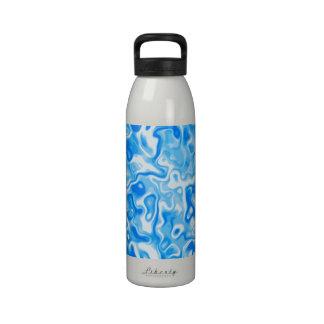 Textura del agua azul botella de agua