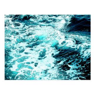 Textura del agua de la espuma del mar de la ola tarjetas postales