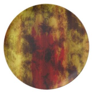 Textura del amarillo de Brown Plato De Comida