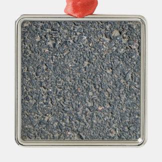 Textura del asfalto adorno cuadrado plateado