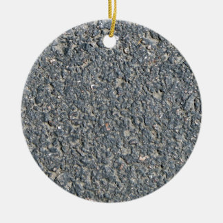 Textura del asfalto adorno redondo de cerámica