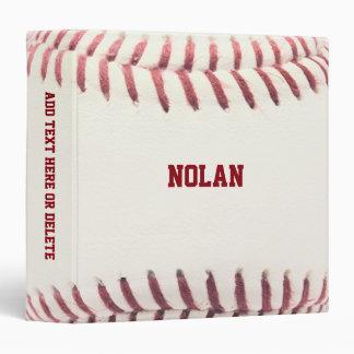 """Textura del béisbol personalizada carpeta 1 1/2"""""""