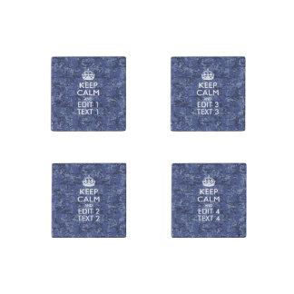 Textura del camuflaje de Digitaces Camo de los azu Imán De Piedra