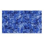 Textura del camuflaje de Digitaces Camo de los azu Plantilla De Tarjeta De Visita