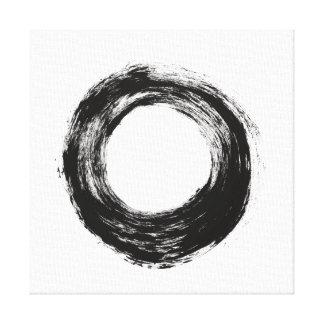 Textura del círculo del movimiento del cepillo impresión en lienzo