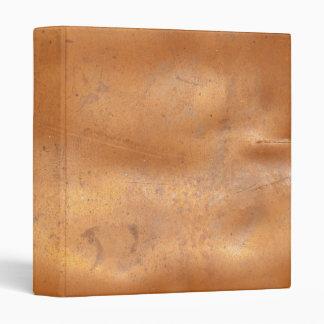 """Textura del cobre del metal carpeta 1"""""""