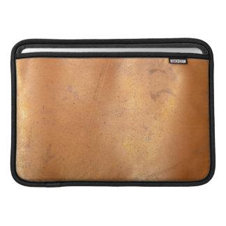 Textura del cobre del metal funda para macbook air