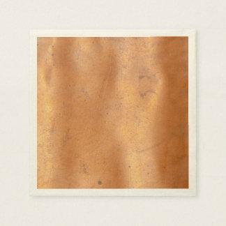 Textura del cobre del metal servilleta de papel